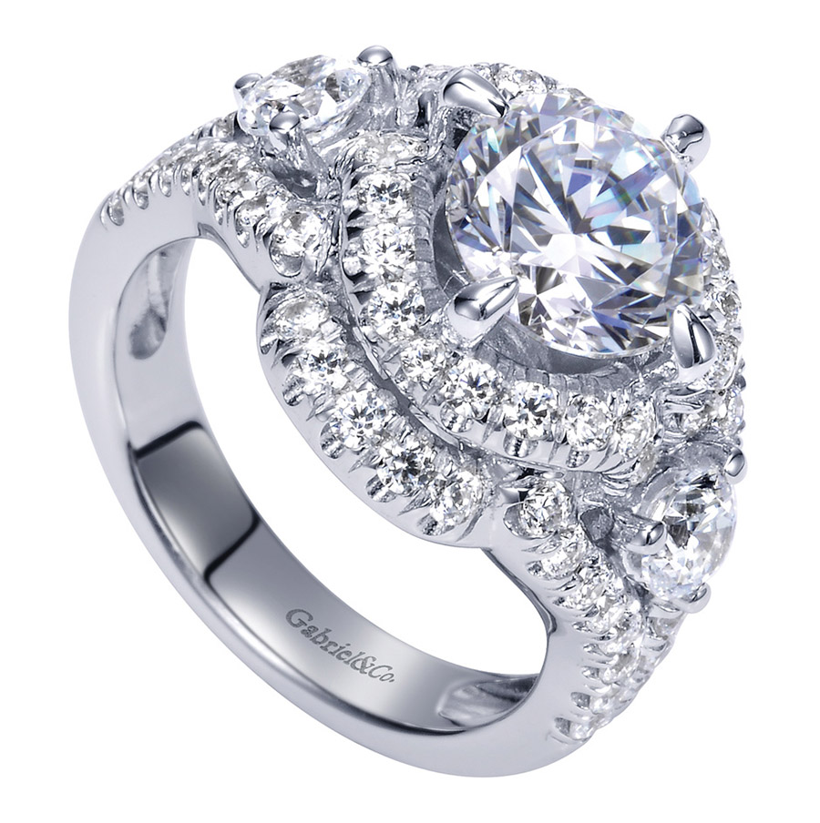 Gabriel 18 Karat Contemporary Engagement Ring ER8472W83JJ Alternative View 2