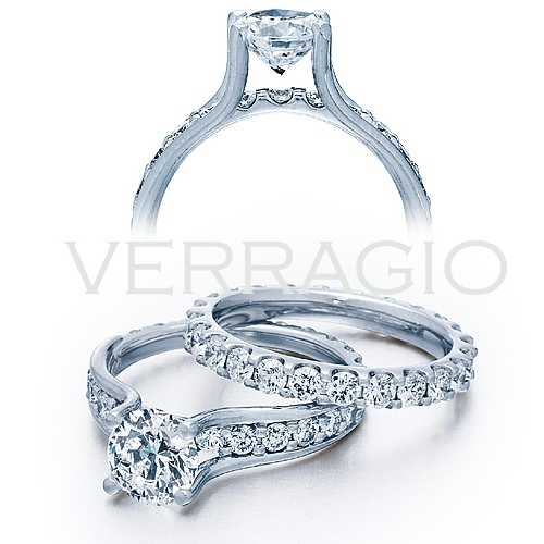 ENG-0349 Verragio Platinum Classico Engagement Ring Alternative View 1