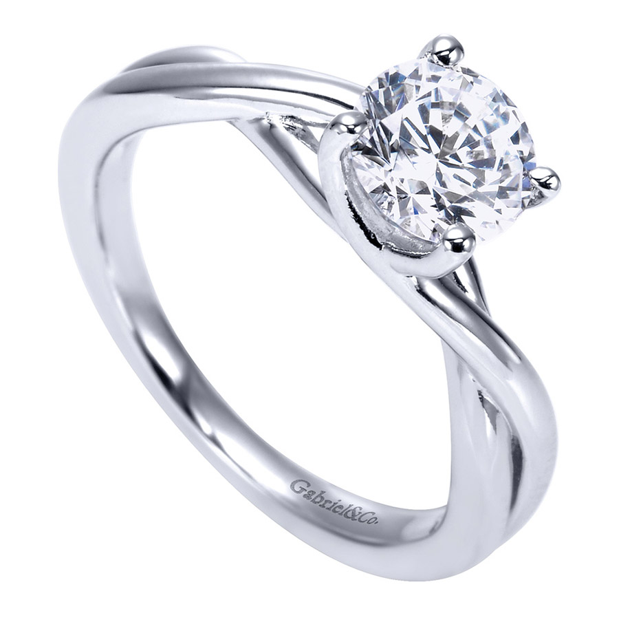 Gabriel Platinum Contemporary Engagement Ring ER8072PTJJJ Alternative View 2