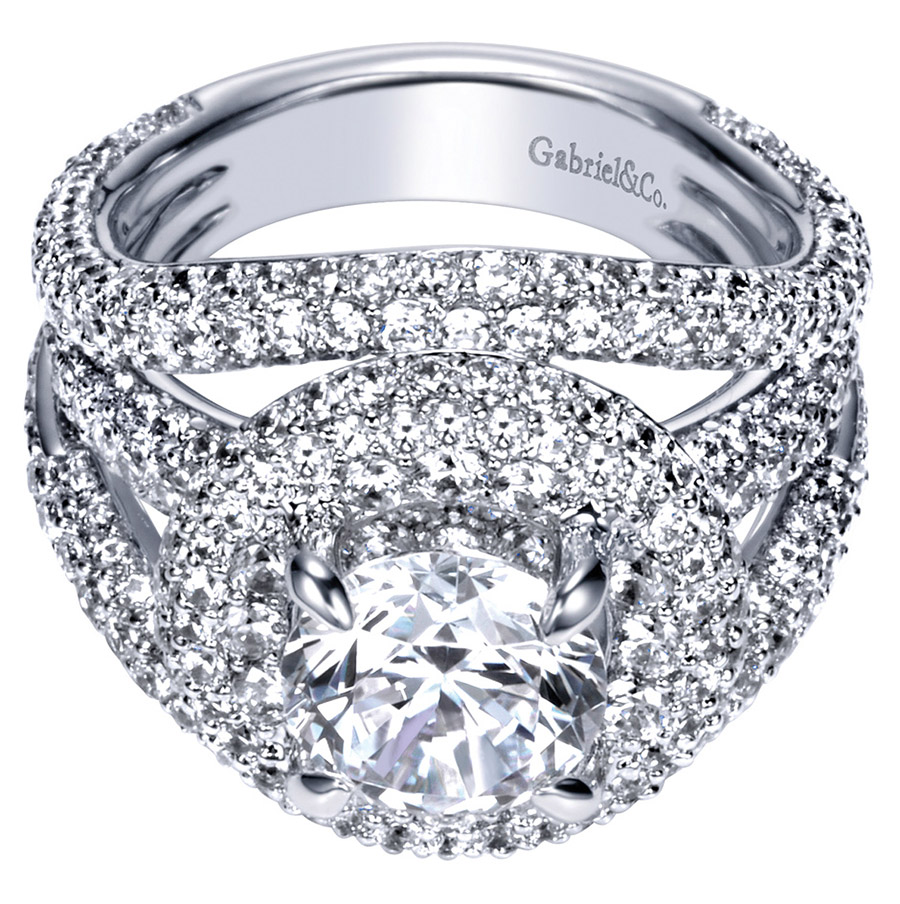 Gabriel 14 Karat Contemporary Engagement Ring ER8330W83JJ