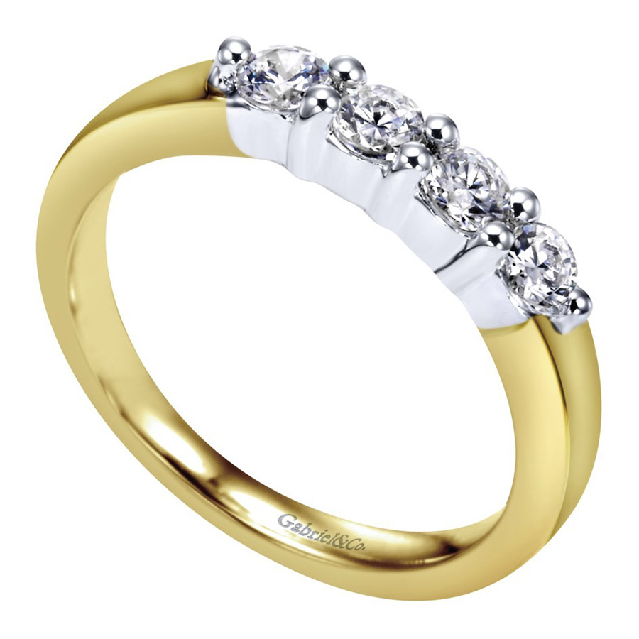 Gabriel 14 Karat Contemporary Wedding Band WB2790M43JJ Alternative View 2