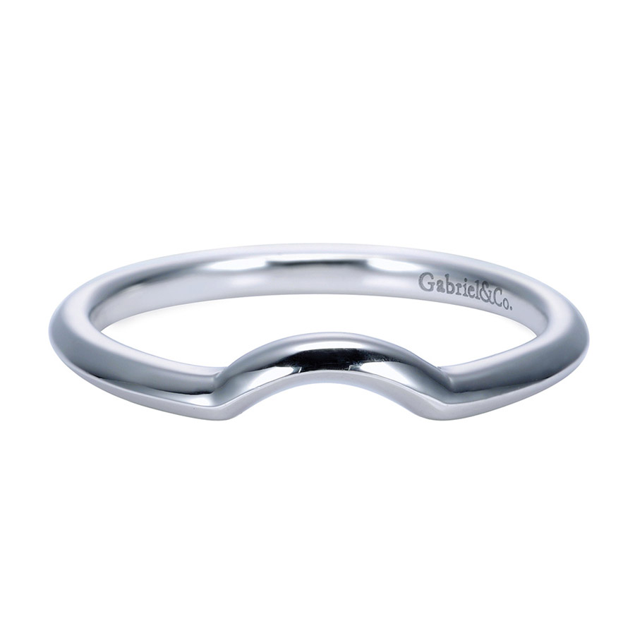 Gabriel Platinum Contemporary Wedding Band WB7730PTJJJ