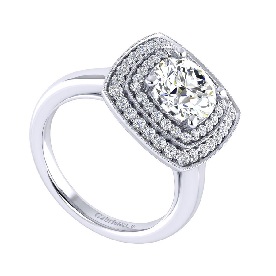 Gabriel 14 Karat Perfect Match Engagement Ring ER009C8AGW44JJ Alternative View 2
