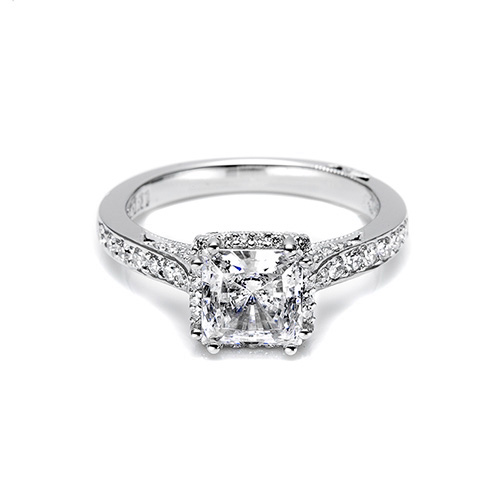 Tacori Platinum Dantela Engagement Ring 2620PRMDP