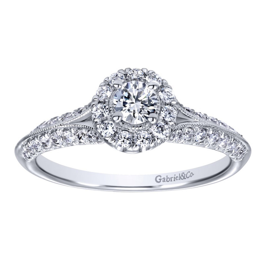 Gabriel 14 Karat Contemporary Engagement Ring ER910936W44JJ Alternative View 4