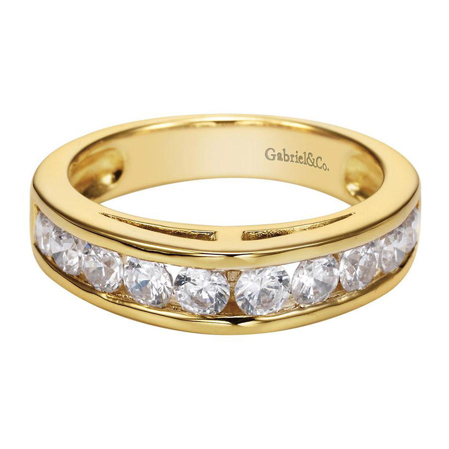 Gabriel 14 Karat Contemporary Wedding Band WB1707Y44JJ