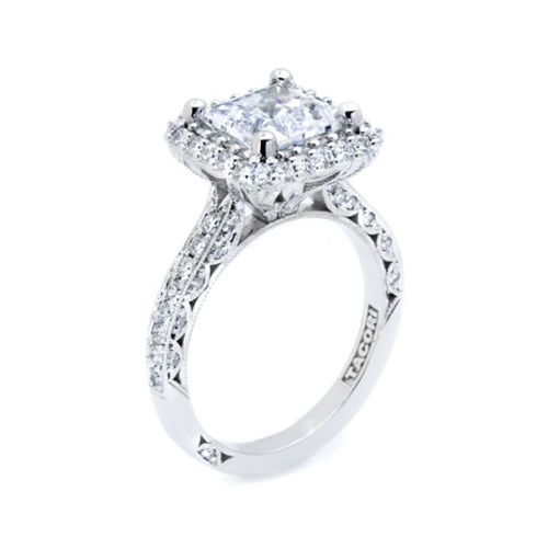 HT2522PR75 Tacori Crescent 18 Karat Engagement Ring Alternative View 3