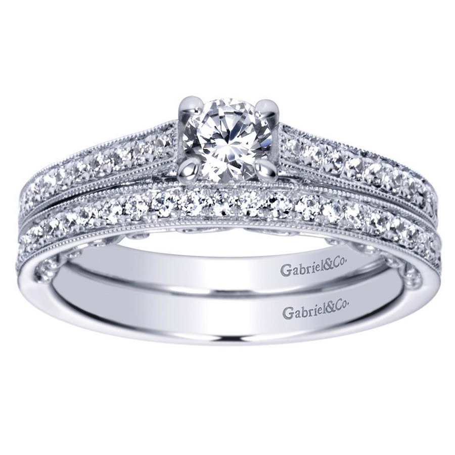 Gabriel 14 Karat Victorian Engagement Ring ER98671W44JJ Alternative View 3
