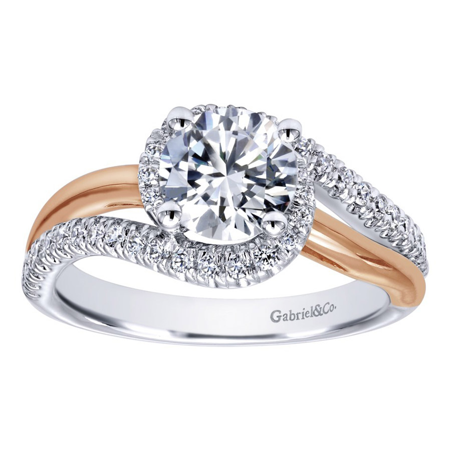 Gabriel 14 Karat Contemporary Engagement Ring ER10308T44JJ Alternative View 4