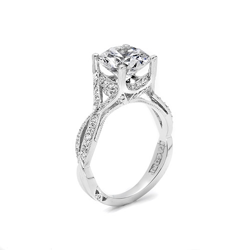 Tacori Platinum Crescent Silhouette Engagement Ring 2565RD9 Alternative View 3