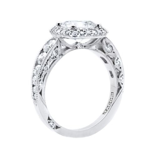HT2521CU75 Tacori Crescent Platinum Engagement Ring Alternative View 3