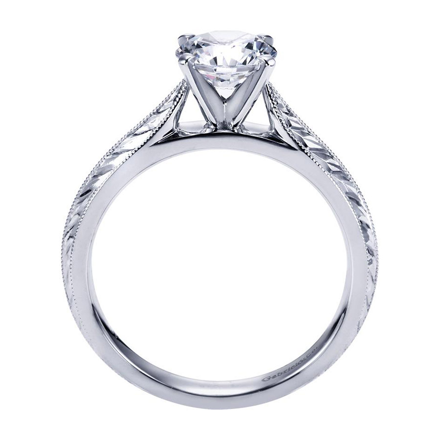 Gabriel Platinum Victorian Engagement Ring ER6707PTJJJ Alternative View 1