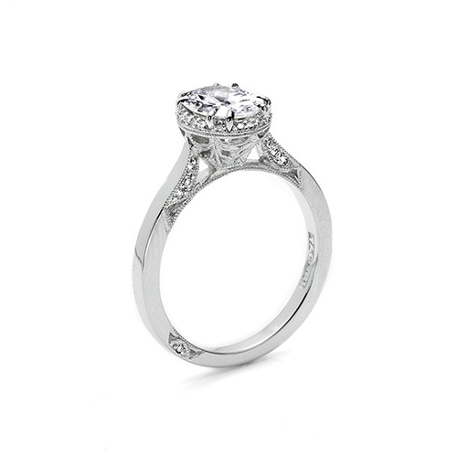 Tacori Platinum Dantela Engagement Ring 2620OVLG Alternative View 1