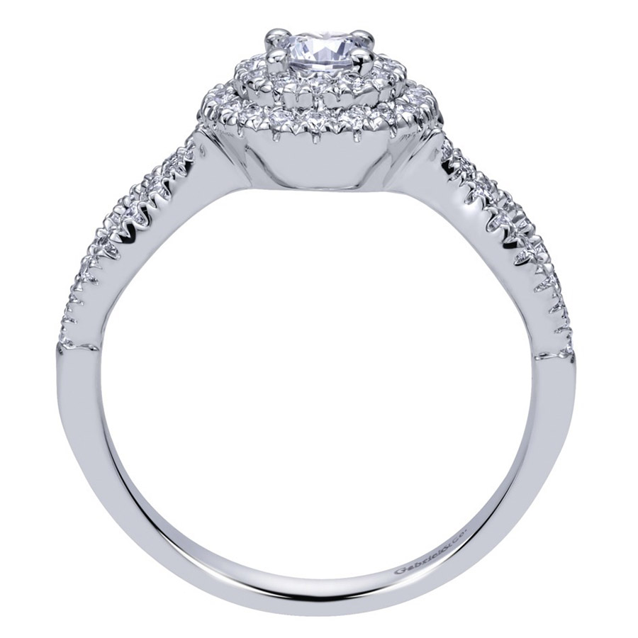 Gabriel 14 Karat Contemporary Engagement Ring ER911598R1W44JJ Alternative View 1