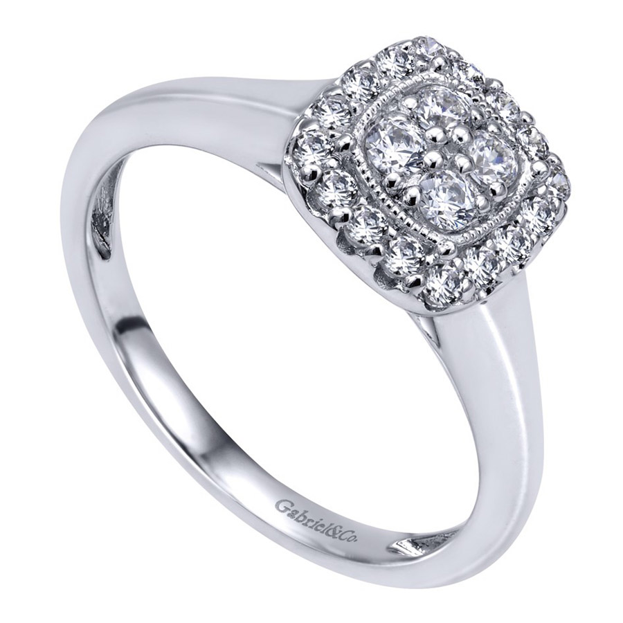Gabriel 14 Karat Contemporary Engagement Ring ER10776W44JJ Alternative View 2