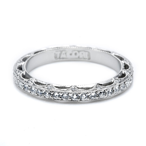 Tacori Platinum Crescent Silhouette Wedding Band HT2511