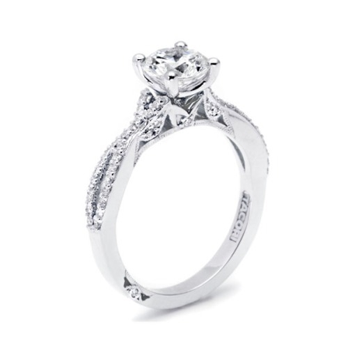 Tacori Platinum Simply Tacori Engagement Ring 3004 Alternative View 3