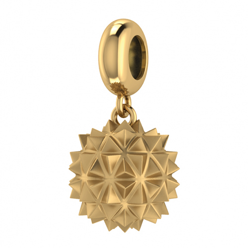 JLo Collection Endless Jewelry Morning Star Drop 18k Gold Plated Charm 3925