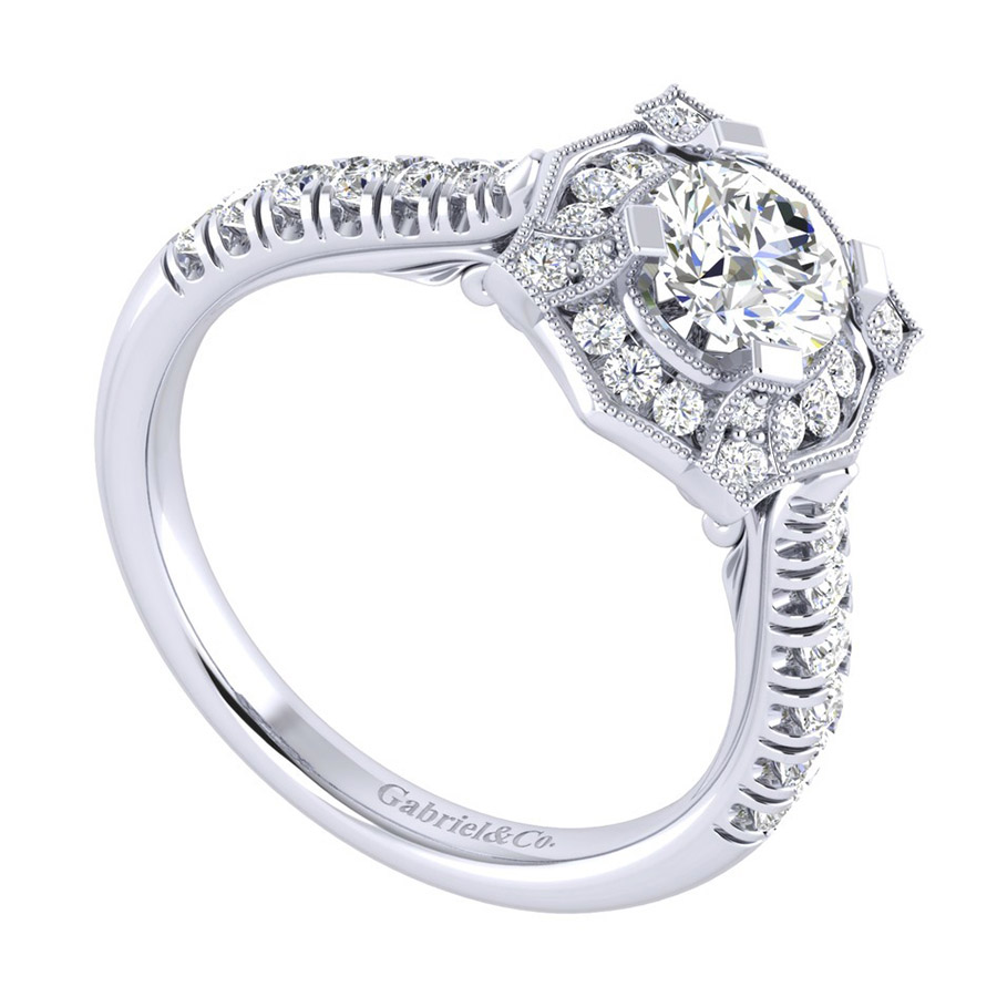 Gabriel 14 Karat Perfect Match Engagement Ring ER039B3ADW44JJ Alternative View 2