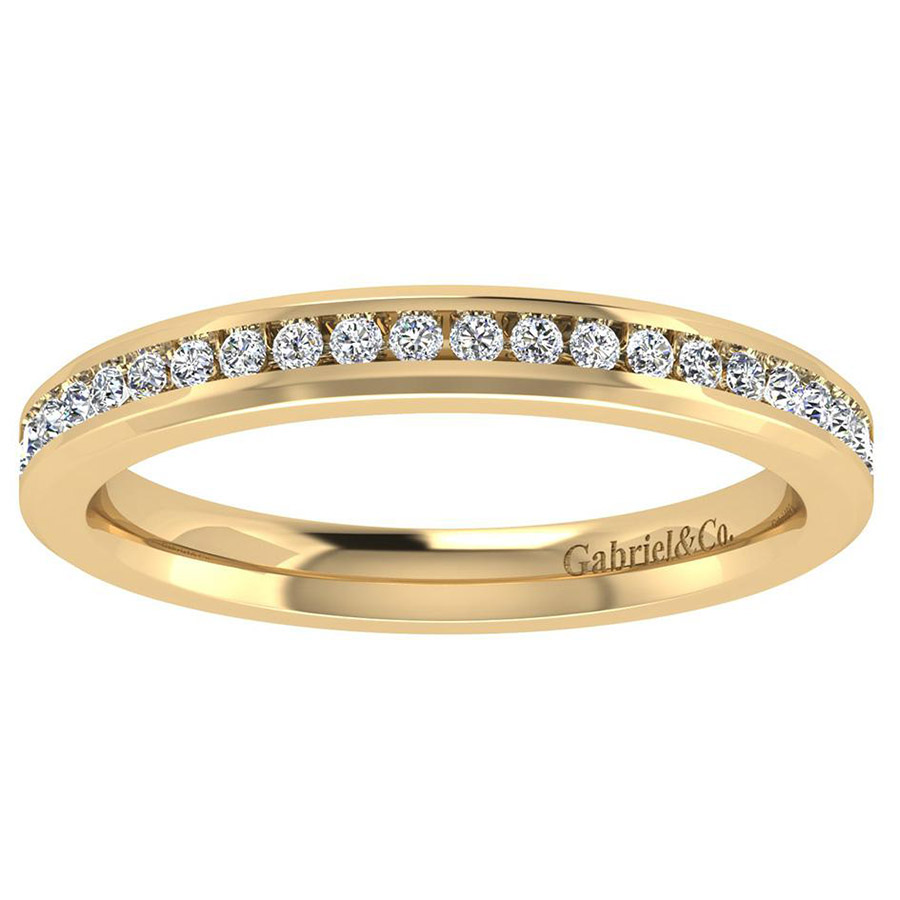 Gabriel 14 Karat Contemporary Wedding Band WB8195Y44JJ Alternative View 4