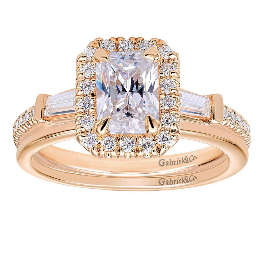 Gabriel 14 Karat Contemporary Engagement Ring ER7268K44JJ Alternative View 3