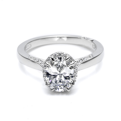 Tacori Platinum Dantela Engagement Ring 2620OVLG