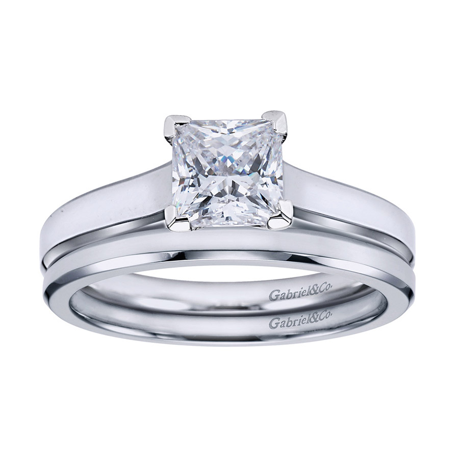 Gabriel Platinum Contemporary Engagement Ring ER6575PTJJJ Alternative View 3