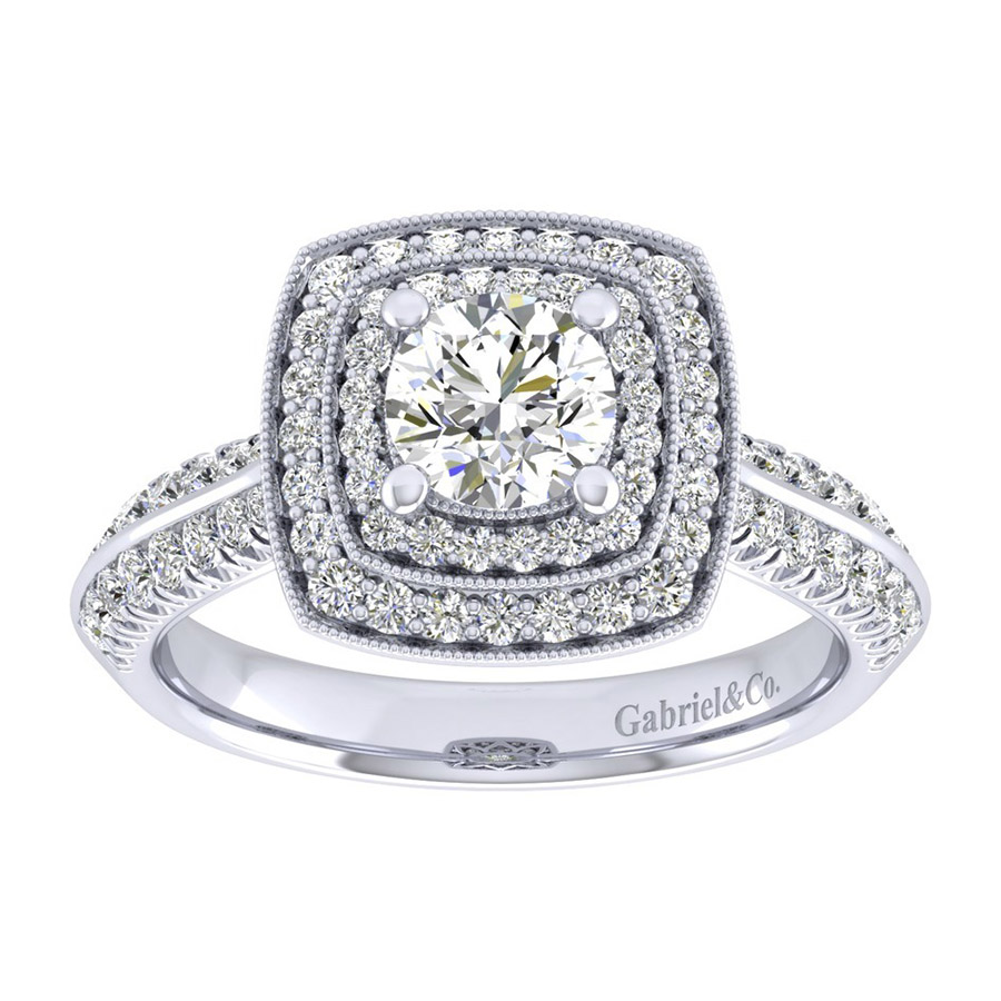Gabriel 14 Karat Perfect Match Engagement Ring ER002B3AGW44JJ Alternative View 4