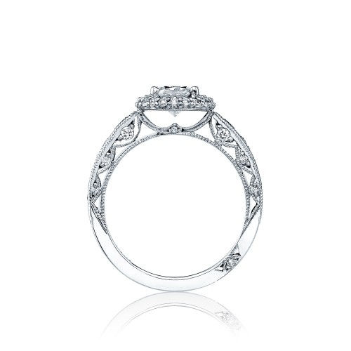 HT2521OV8X6 Tacori Crescent Platinum Engagement Ring Alternative View 1