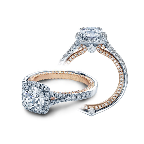 Verragio Couture-0424DCU-TT 14 Karat Engagement Ring