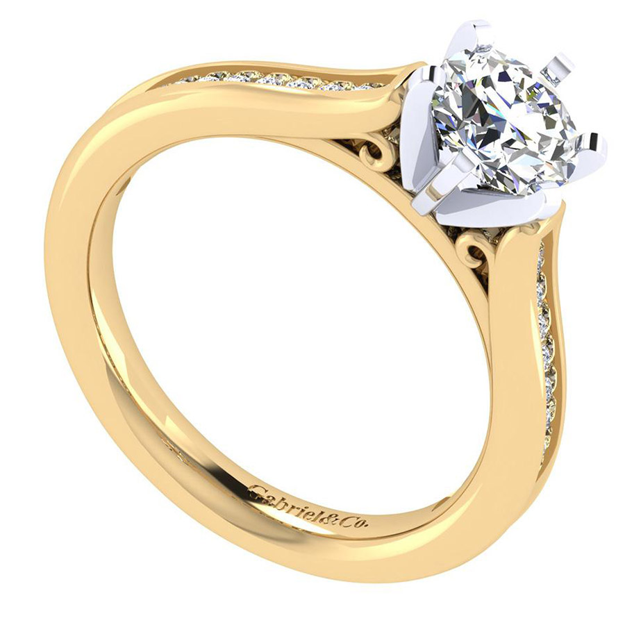 Gabriel 14 Karat Contemporary Engagement Ring ER6674M44JJ Alternative View 2