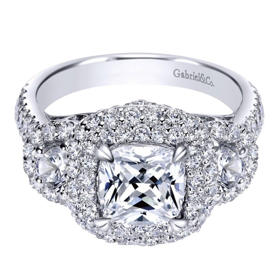 Gabriel 14 Karat Contemporary Engagement Ring ER8470W83JJ