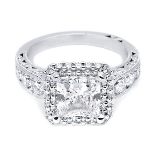 HT2521PR7 Tacori Crescent Platinum Engagement Ring Alternative View 2