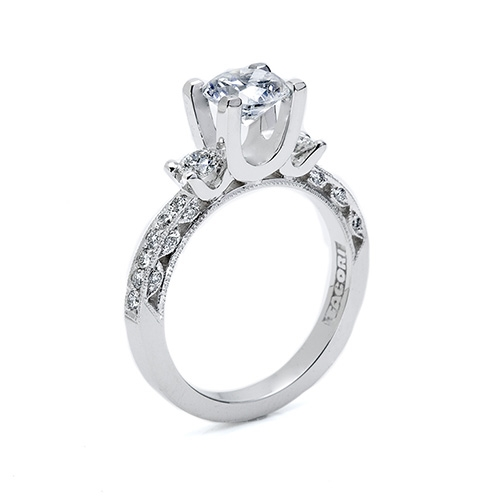 Tacori Platinum Crescent Silhouette Engagement Ring HT225912 Alternative View 1