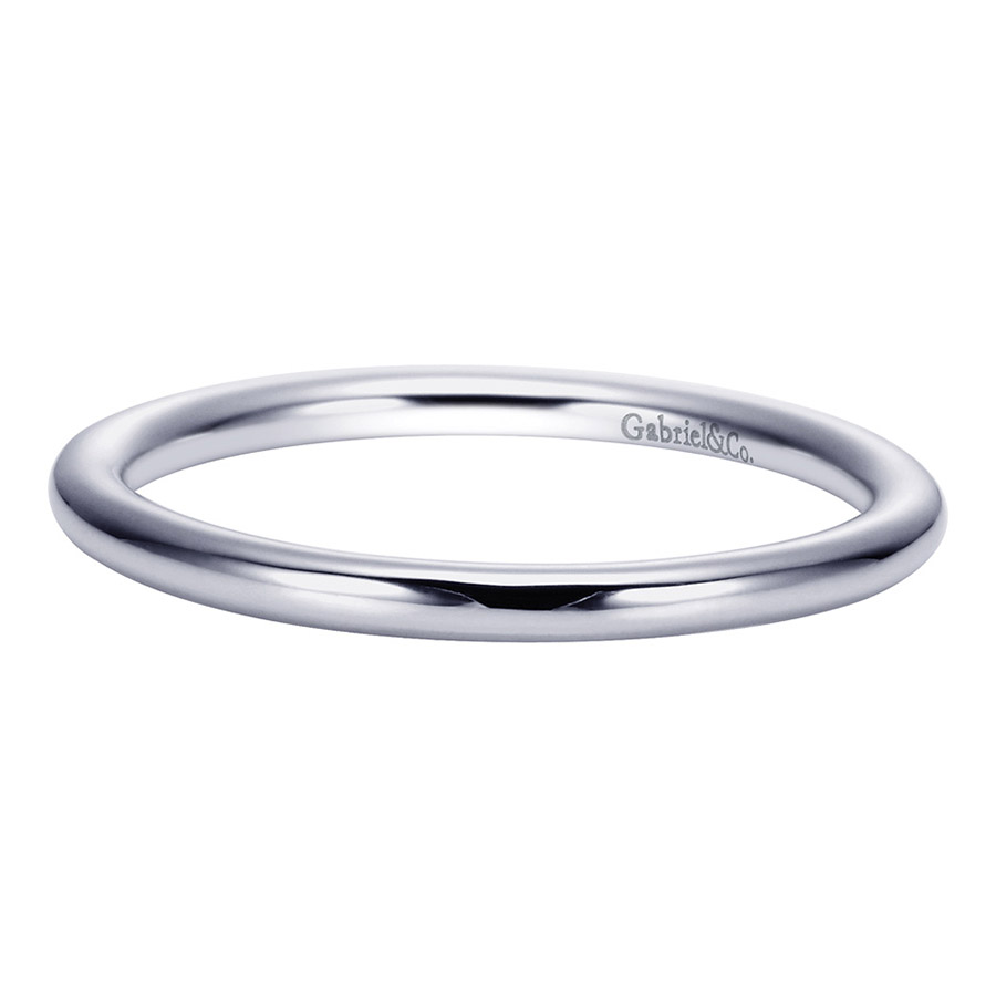 Gabriel Platinum Contemporary Wedding Band WB8289PTJJJ