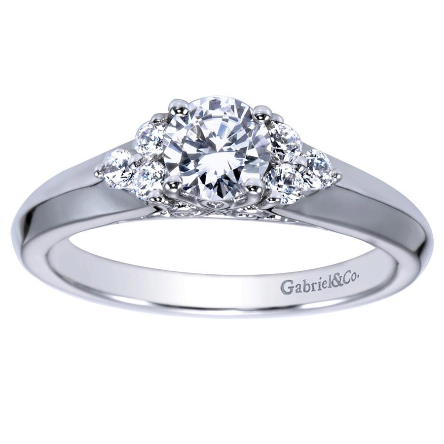 Gabriel 14 Karat Contemporary Engagement Ring ER98543W44JJ Alternative View 4