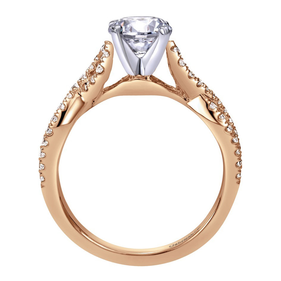 Gabriel 14 Karat Contemporary Engagement Ring ER7805T44JJ Alternative View 1