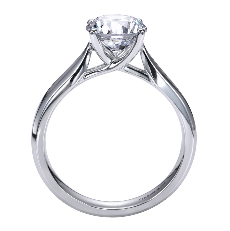 Gabriel Platinum Contemporary Engagement Ring ER6593PTJJJ Alternative View 1