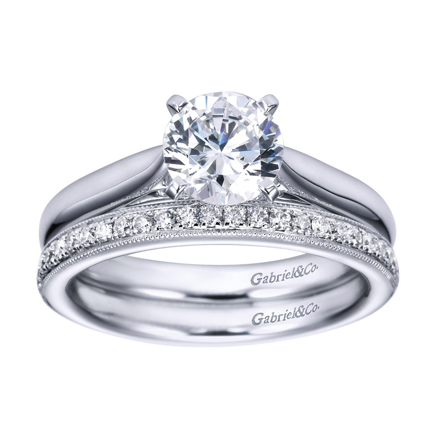 Gabriel Platinum Contemporary Engagement Ring ER6672PTJJJ Alternative View 3