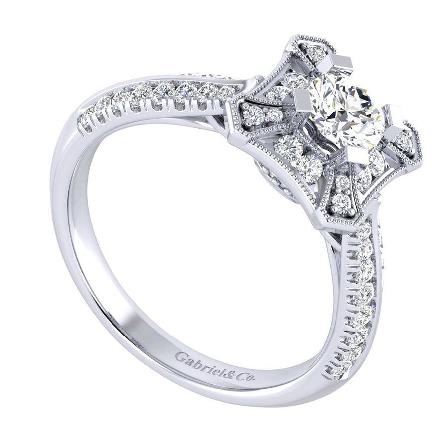 Gabriel 14 Karat Perfect Match Engagement Ring ER002A2AEW44JJ Alternative View 2