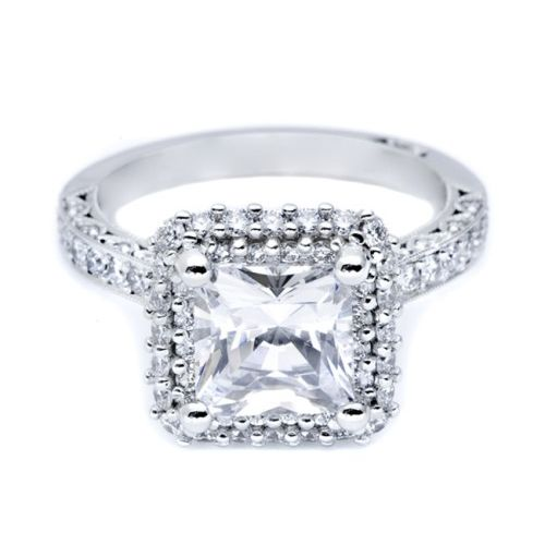 HT2522PR75 Tacori Crescent 18 Karat Engagement Ring Alternative View 2