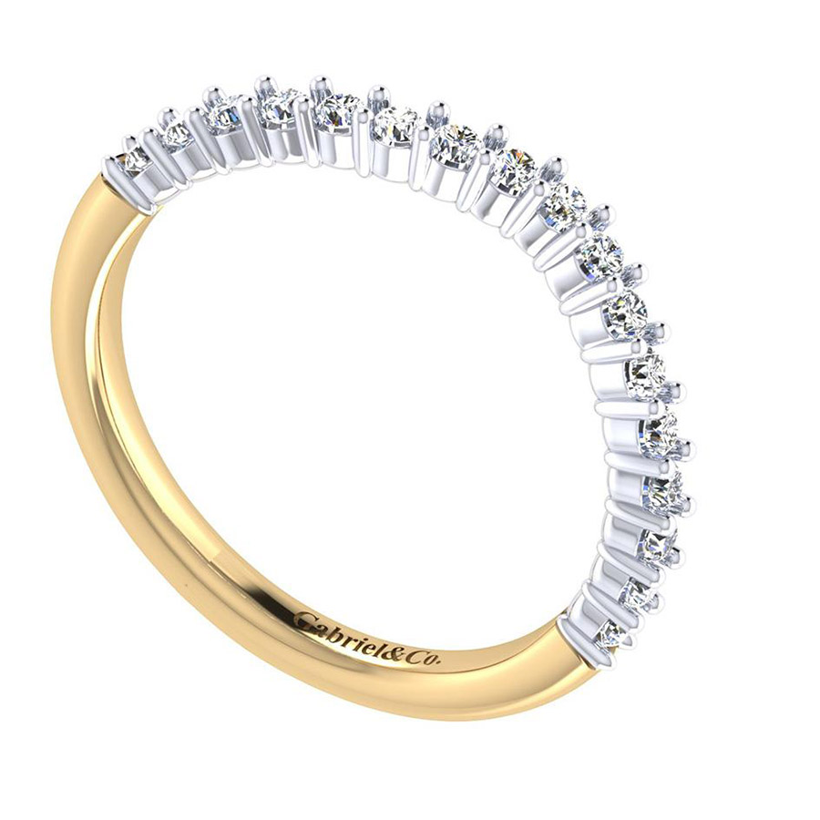 Gabriel 14 Karat Contemporary Wedding Band WB6941M44JJ Alternative View 2