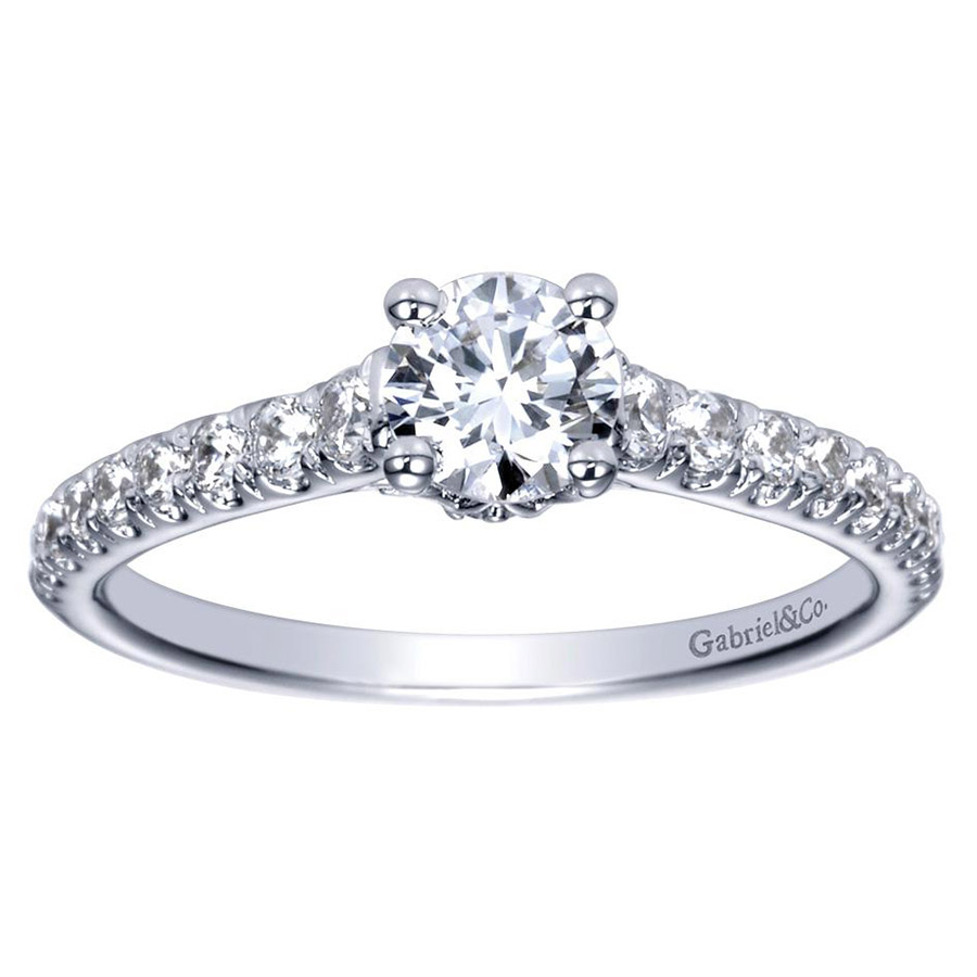 Gabriel 14 Karat Contemporary Engagement Ring ER98590W44JJ Alternative View 4