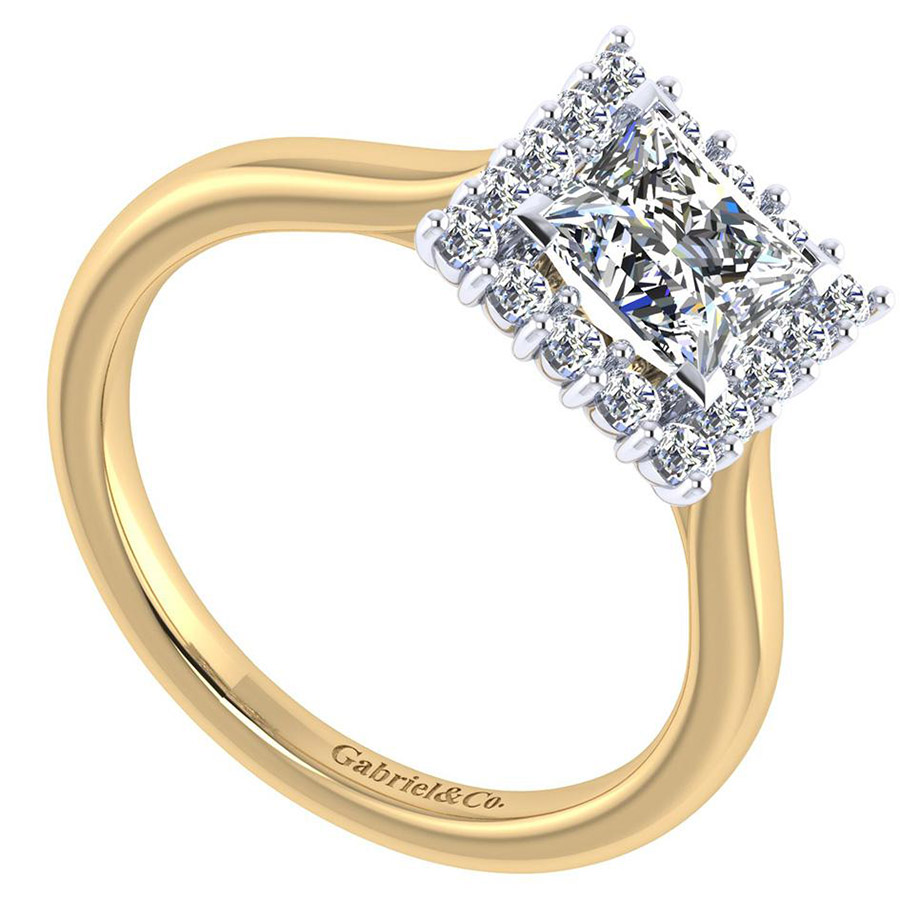 Gabriel 14 Karat Contemporary Engagement Ring ER7499M44JJ Alternative View 2