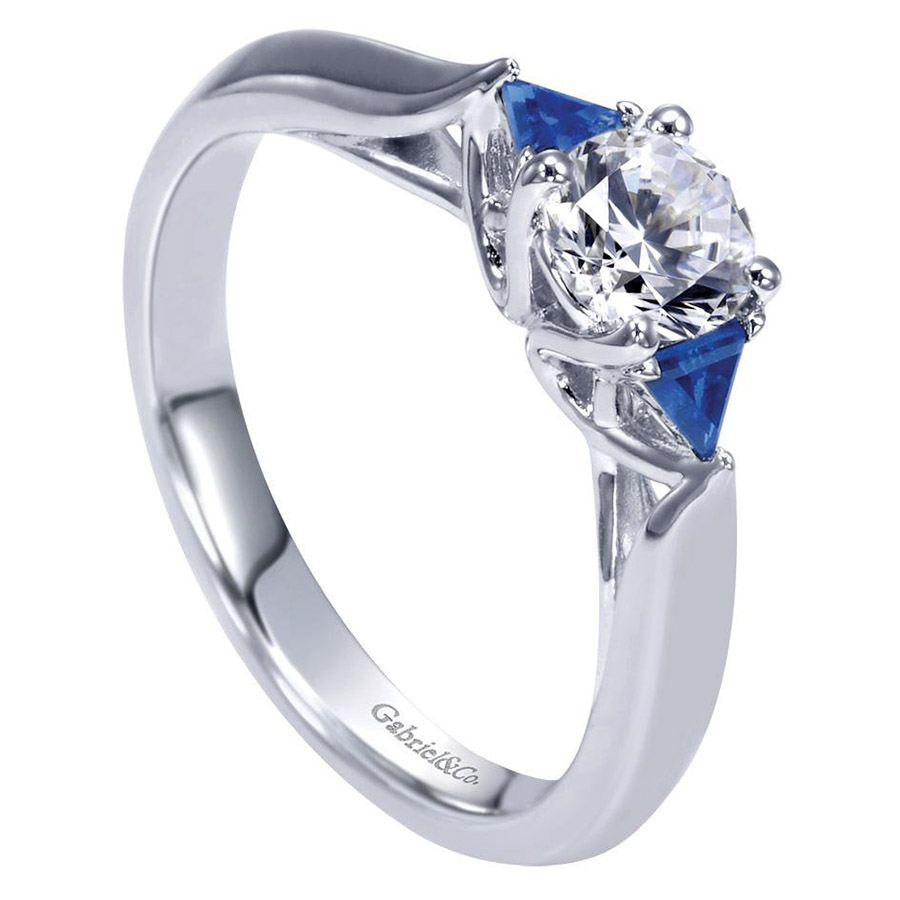 Gabriel 14 Karat Contemporary Engagement Ring ER98685W44SA Alternative View 2