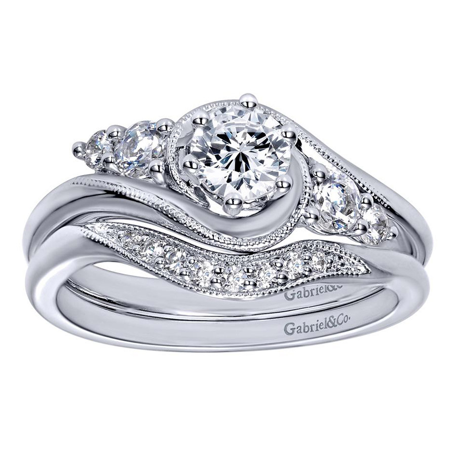 Gabriel 14 Karat Contemporary Engagement Ring ER910064W44JJ Alternative View 3