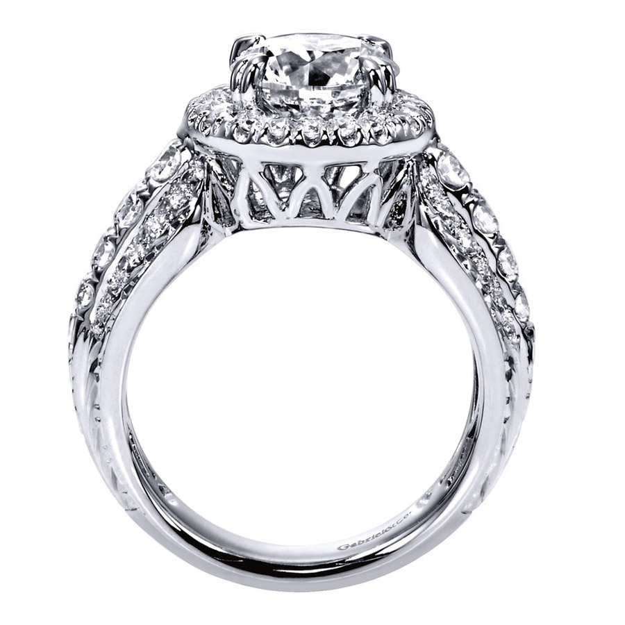 Gabriel 14 Karat Contemporary Engagement Ring ER8473R8W83JJ Alternative View 1