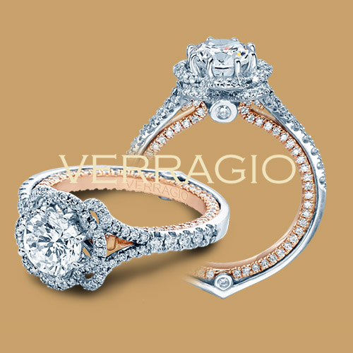 Verragio Couture-0426DR-TT 18 Karat Engagement Ring Alternative View 1