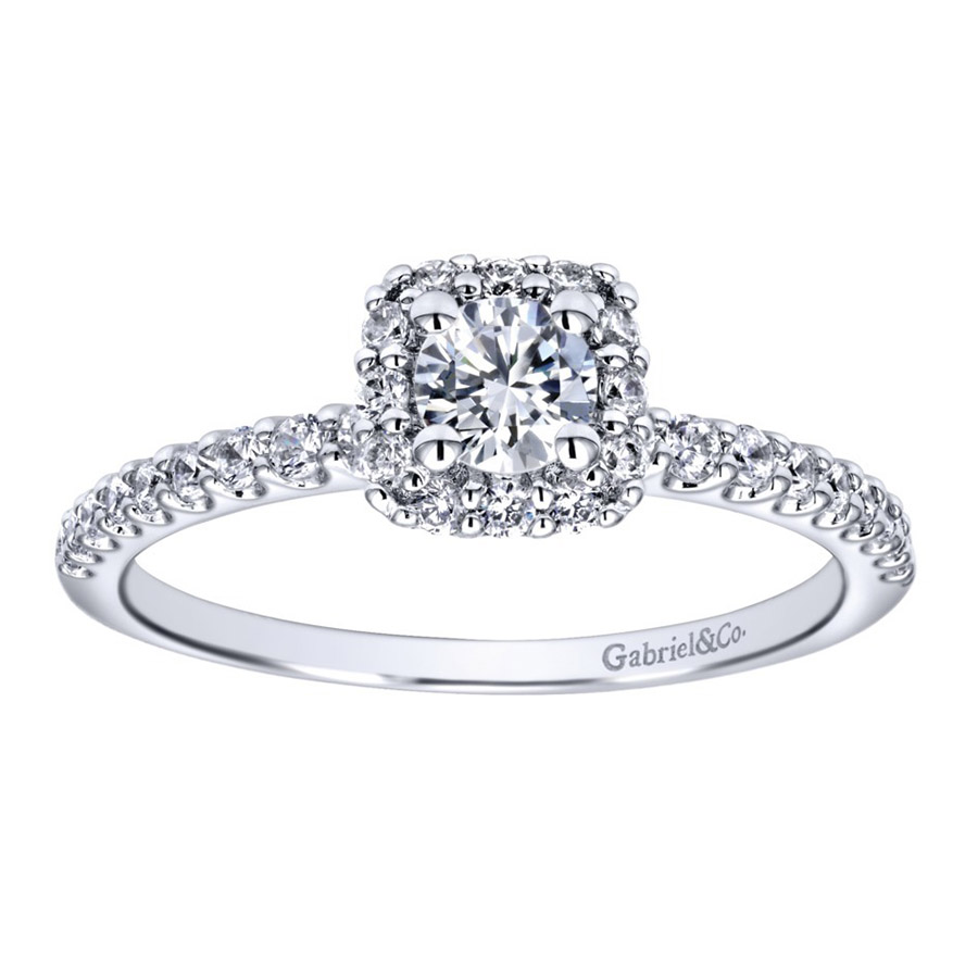 Gabriel 14 Karat Contemporary Engagement Ring ER911727R1W44JJ Alternative View 4