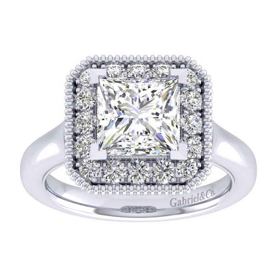 Gabriel 14 Karat Perfect Match Engagement Ring ER009C8ALW44JJ Alternative View 4